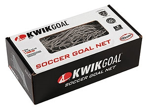 KwikGoal Net - 6.5'H x 18.5'W x 0'D x 6.5'B, 120mm mesh, 2mm twisted - Orange Net 3B3811