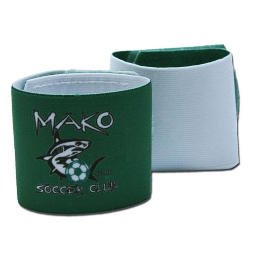 Shin Guard Stay (Reversible) - Mako Club Logo/White GUARDSTAY15