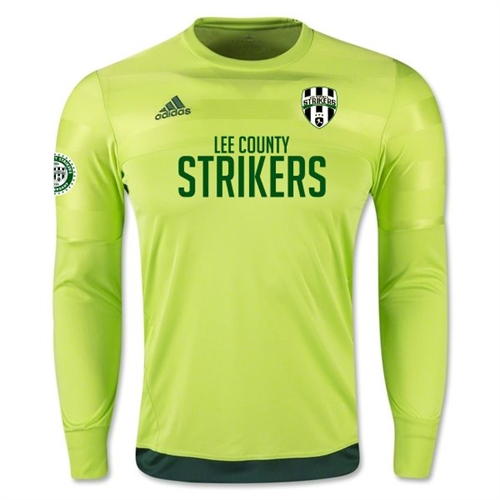 Lee County Strikers adidas Entry Long Sleeve Goalkeeper Jersey - Solar Slime/Dark Green LEEAP0323