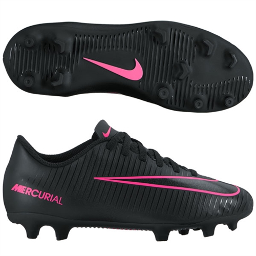 Nike Junior Mercurial Vortex III FG - Black/Black 831952-006