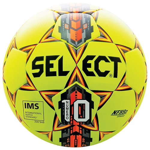 Select Numero 10 Ball IMS - NFHS Approved - Yellow/Orange/Black