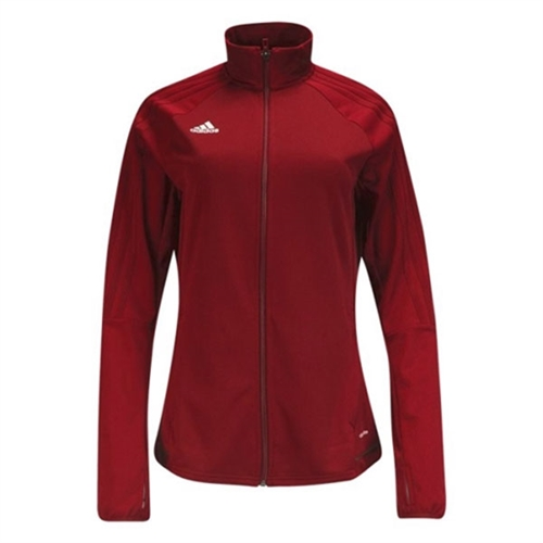 adidas Women's Tiro 17 Training Jacket - Red/White BQ8243
