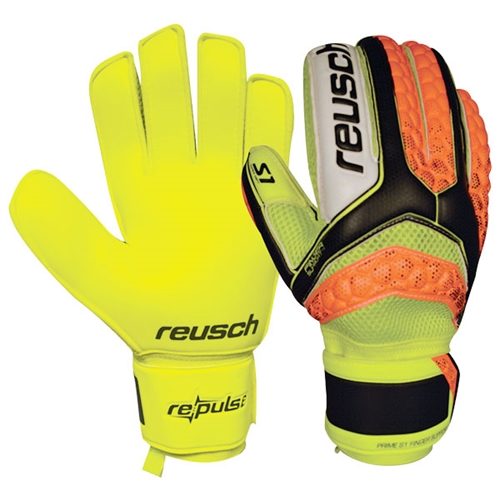 Reusch Pulse S1 Finger Support Glove - Yellow/Orange - Yellow Palm 3670200-Y