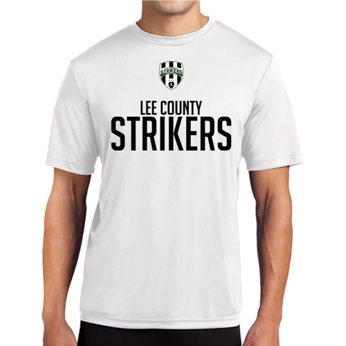 Lee County Strikers Short Sleeve Performance Shirt - White Lee-WPTee