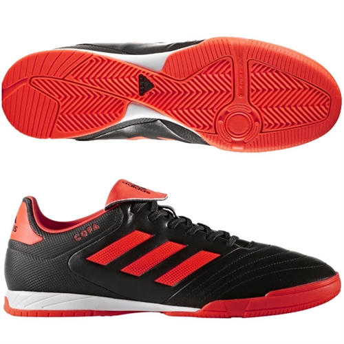 adidas Copa 17.3 IN - Core Black/Solar Red Indoor S77148