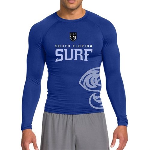 South Florida Surf Long Sleeve Compression Top - Blue  SFSComLS