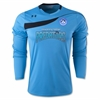 UnderArmour Youth Horizontal Long Sleeve Goal keeping Jersey - Sky PBG Predators 1227736-419