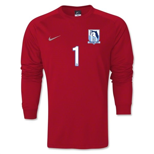 FC Treasure Coast Nike LS Park Goalie II Jersey - Red 620898-657FCTC