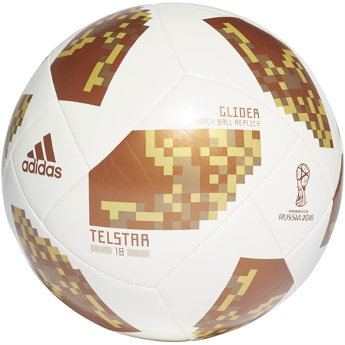 adidas Fifa World Cup Glider Ball 2018 - White/Metallic Gold CE8099