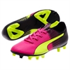 Puma Junior EvoSpeed 5.5 Tricks FG - Pink Glo/Safety Yellow/Black 10362901