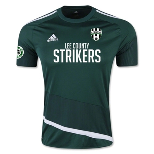 Lee County Strikers adidas Youth Regista 16 Jersey - Collegiate Green/White AP0545