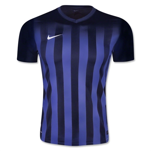 Nike SS Striped Division II Jersey - Navy 820700Nav