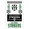 Lee County Strikers Sticker Pack  LCS-STICKER