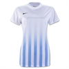 Nike Women's SS Striped Division II Jersey - White/Blue 820702Whi