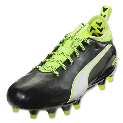 Puma EvoTouch 1 FG JR - Black/White/Safety Yellow 103749-01
