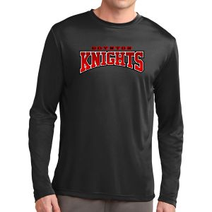 Boynton Knights FC Long Sleeve Performance Logo Shirt - Black ST350LS-BK