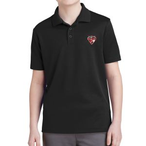 Boynton Knights Youth Polo Shirt - Black YST640-BK