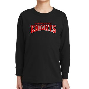 Boynton Knights Youth Long Sleeve T-Shirt - Black 5400B-BK