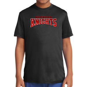 Boynton Knight Youth Short Sleeve Performance Shirt - Black YST350-BK