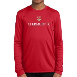 CFC Academy Select Youth Long Sleeve Performance Shirt - Red YST350LSR