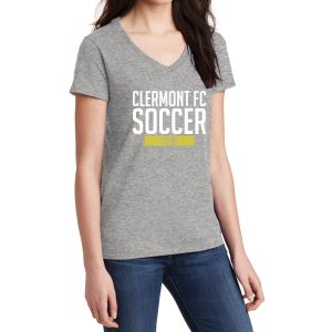 Clermont FC Women's V-Neck T-Shirt - Grey 5V00LGrey