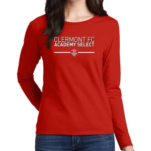 CFC Academy Select Women's Long Sleeve T-Shirt - Red G5400LCFC
