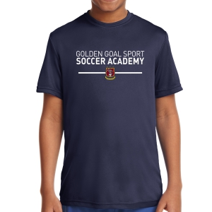 Golden Goal Sports Youth Performance Shirt - Navy YST350-GGS
