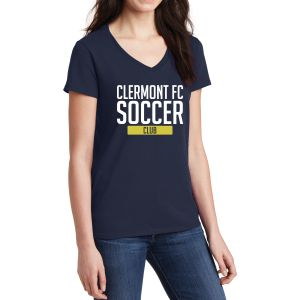 Clermont FC Women's V-Neck T-Shirt - Navy 5V00LNav