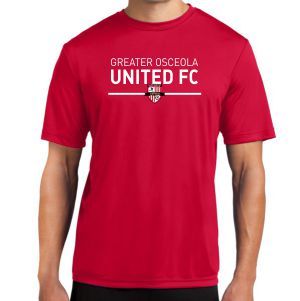 Greater Osceola United Performance Shirt - Red ST350GOURd