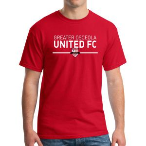 Greater Osceola United T-Shirt- Red G500GOU