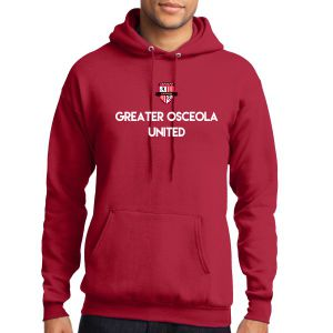 Greater Osceola United Hooded Sweatshirt - Red PC78HGOURd
