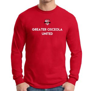 Greater Osceola United Long Sleeve T-Shirt - Red G5400RdGou