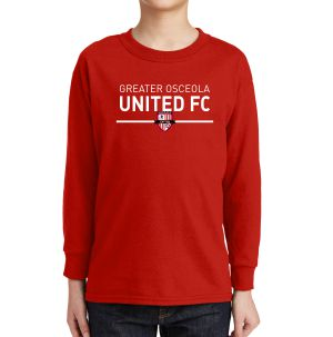 Greater Osceola United Youth Long Sleeve T-Shirt - Red 5400BGouRe