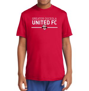 Greater Osceola United Youth Performance Shirt - Red YST350Re