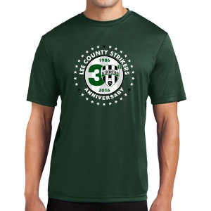 Lee County Strikers 30th Anniversary Short Sleeve Performance Shirt - Forest Green Lee-30PerT