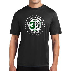 Lee County Strikers 30th Anniversary Short Sleeve Performance Shirt - Black Lee-30PerBL