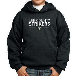 Lee County Strikers Youth Hooded Sweatshirt - Black PC90Yh-LCS