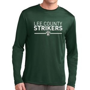 Lee County Strikers Long Sleeve Performance Shirt - Forest Green ST350LS-LCSFG