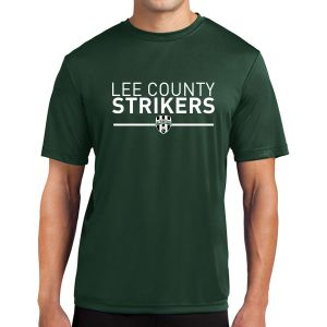 Lee County Strikers Short Sleeve Performance Shirt - Forest Green ST350-LCSFG
