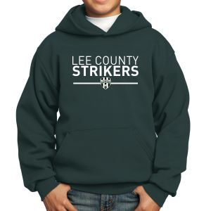 Lee County Strikers Youth Hooded Sweatshirt - Forest Green PC90Yh-LCSFG