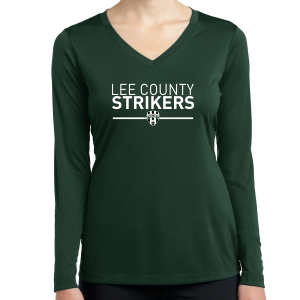 Lee County Strikers Women's Long Sleeve Performance Shirt - Forest Green LST353LS-LCSFG