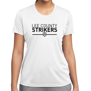 Lee County Strikers Women's Performance Shirt - White LST350-LCSW