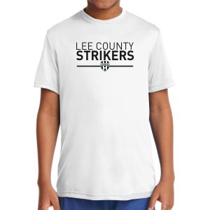 Lee County Strikers Youth Short Sleeve Performance Shirt - White YST350-LCSW