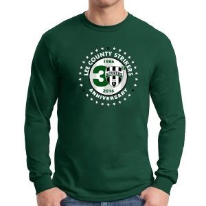 Lee County Strikers 30th Anniversary Long Sleeve T-Shirt - Forest Green Lee-LSTee