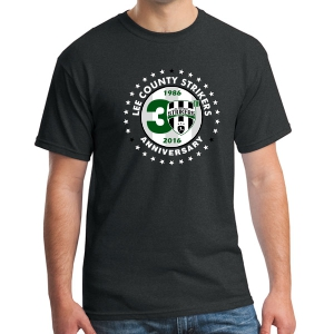Lee County Strikers 30th Anniversary T-Shirt - Black Lee-30BTee