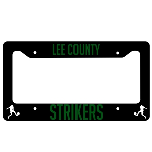 Lee County Strikers Custom License Plate Frame LicenseFrame-LCS