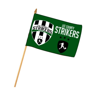 Lee County Strikers Custom Mini Flag MiniFlag-LCS