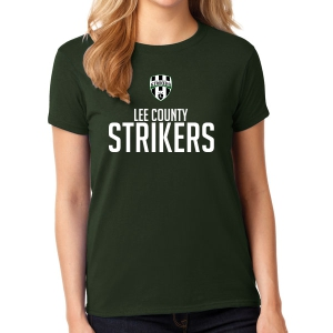 Lee County Strikers Women's T-Shirt - Forest Green Lee-WTee