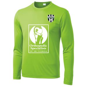 Lee County Strikers Long Sleeve Training Jersey - Lime Shock LCS-ST350LSLC