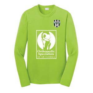 Lee County Strikers Youth Long Sleeve Training Jersey - Lime Shock LCS-ST350LSYLC